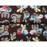 Tissu digital jersey stenzo cactus with flower - 474