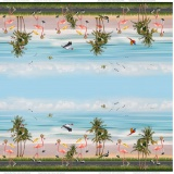 Tissu digital jersey double bord stenzo flamingo o - 474