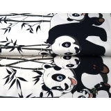 Tissu jersey double bord stenzo panda - 474