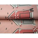 Tissu jersey double bord Stenzo cabane de plage - 474