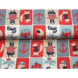 Tissu jersey Stenzo mosaïque de bord de mer - 474