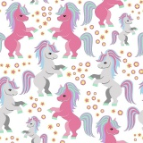 Tissu jersey imprimé Stenzo mon petit poney - 474