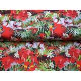 Tissu jersey imprimé Stenzo horse flower - 474