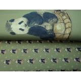 Panneau jersey 70 x 150 cm Stenzo panda et sa tort - 474