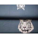 Panneau jersey 70 x 150 cm Stenzo mr tigre blanc - 474