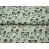 Jersey mélangé stenzo teddy à lunettes 150cm oekot - 474