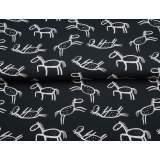 Jersey imprimé stenzo petit cheval bio coton 150cm - 474