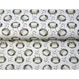 Jersey imprimé stenzo mon mouton bio coton 150cm - 474