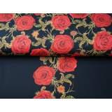 Panneau jersey stenzo roses rouges dp 150x150cm - 474