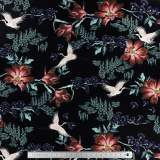 Jersey imprimé stenzo japanese bird 150 cm - 474