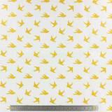 Popeline Stenzo 100% coton imprimé oiseau doré - 474