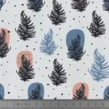 Jersey Stenzo digital print feathers - 474