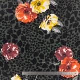 Jersey Stenzo digital print flowers on animal - 474