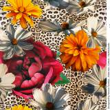 Jersey Stenzo digital print flowers and leopard - 474