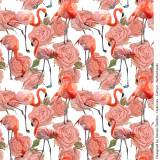 Jersey Stenzo digital print flamingo and roses - 474