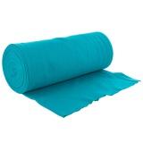 Bord côte jersey tubulaire turquoise laize de 35cm - 474