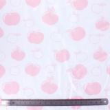 Tissu Stenzo jersey pomme rose blanc - 474