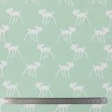 Tissu stenzo jersey bambi blanc menthe - 474