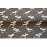 Tissu stenzo jersey bambi blanc taupe - 474