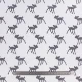 Tissu stenzo jersey bambi taupe blanc - 474
