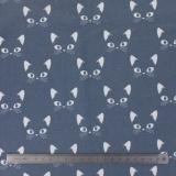 Tissu stenzo jersey chat blanc gris - 474