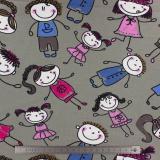 Tissu Stenzo jersey bambins gris - 474
