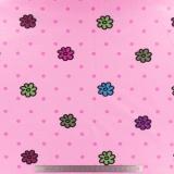 Tissu Stenzo jersey fleur pois rose - 474