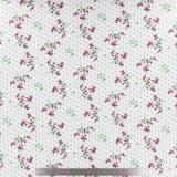 Tissu stenzo jersey fleurettes pois blanc - 474