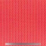 Tissu stenzo jersey vagues rouge - 474