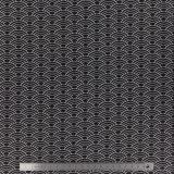 Tissu stenzo jersey vagues noir - 474