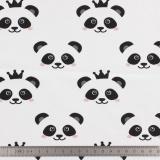 Tissu stenzo jersey panda blanc - 474