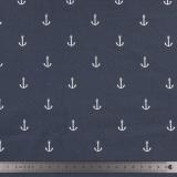 Tissu stenzo jersey ancre blanc marine - 474