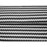 Tissu Stenzo jersey bio feston bicolore 150cm - 474