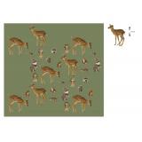 Tissu Stenzo jersey dp bambi et ses amis 150cm - 474