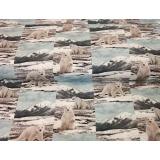 Tissu Stenzo jersey dp ours blanc 150cm - 474