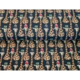 Tissu Stenzo jersey dp girafe family 150cm - 474
