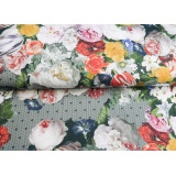 Tissu Stenzo jersey dp jardin des roses 150cm - 474