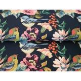 Tissu Stenzo jersey dp mésange au jardin 150cm - 474