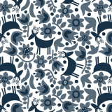 Tissu Dashwood coton snow forest - 476