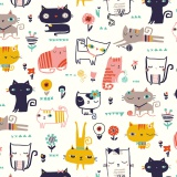 Tissu Dashwood cool for cats 110 cm - 476