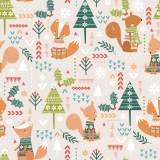 Tissu coton dashwood christmas party  110cm-metre - 476