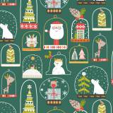 Tissu coton Dashwood christmas party 110cm - 476