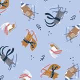 Tissu coton Dashwood Snow much fun - 476