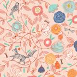Coupon Dashwood boho meadow 100 x 110cm 100%coton - 476