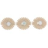 Galon fantaisie grandes fleurs avec perle stass - 480
