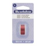Fil pour perle nymo beadalon 0,30 rouge 58,5m - 481