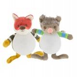 Doudou x2 mini mini wolfy et foxy - 485