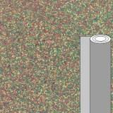 Coupon tissu caviar facettes dore vert 50 x 69 cm - 488