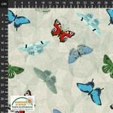 Tissu Stof Fabrics My flutter by - 489