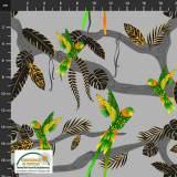 Tissu Stof Fabrics Jungle birdie - 489